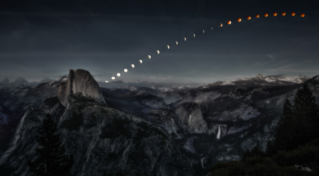 What If ....Lunar Eclipse Over Glacier Point